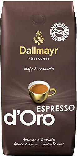 Dallmayr Kaffee Espresso d'Oro 500g Kaffeebohnen 4er Pack (4 x 500 g)