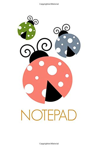 Notepad: Ladybird Homework Book Notepad Notebook Composition and Journal Diary por Retrosun Designs