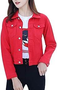 Women Sweatshirt Coat, Ladies Solid Long Sleeve Casual Denim Buttons Blazer Jeans Jacket Cardigan Coat