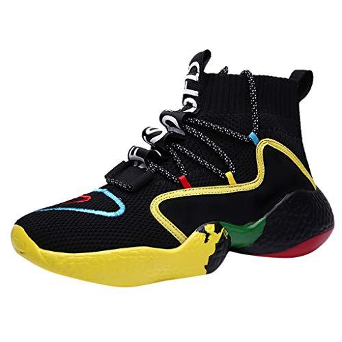 SSUPLYMY Herren Laufschuhe Sneaker Straßenlaufschuhe Herren Freizeitschuhe Sportschuhe Sneakers Turnschuhe Running Shoes Herren High Top Knit Atmungsaktive Laufschuhe Turnschuhe - Knit Cropped Legging