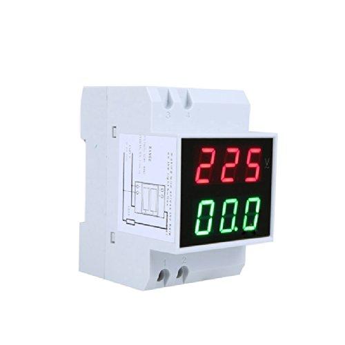Kkmoon D52-2042 - Multímetro digital (AC 80-300V 99.9A, medidor de voltaje, amperímetro doble)