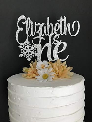 Andrea1Oliver Jeder Name jeden Alters Geburtstag Cake Topper Winter Onederland Cake Topper Benutzerdefinierte EIN Cake Topper ersten Geburtstag Schneeflocke Topper Cake Topper