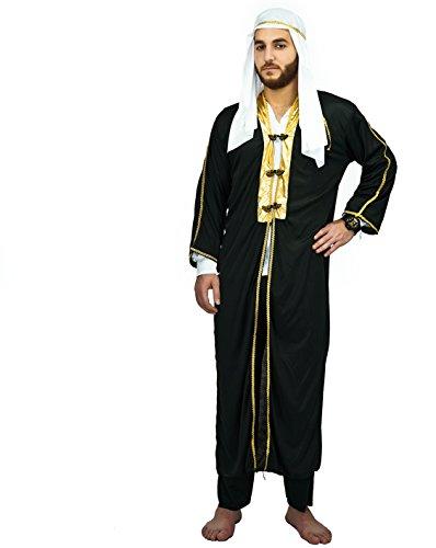 SEA HARE Erwachsene Männer Arabian Prince Scheich Kostüm