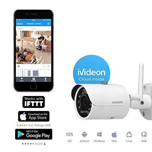 Nobelic NBLC-3330F-WSD FullHD Security Bullet Camera System with SD Card Support and Ivideon Cloud Service (Cloud-sd)