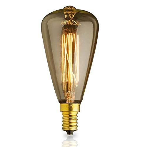 KJLARS Ampoule Edison E14 ST48 40W Rétro Ampoules décoratives Antique Lampe