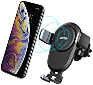 CHOETECH Wireless Car Charger, Qi Fast Wireless Charger Car Phone Mount Air Vent Stand,7.5W Compatible with Ap