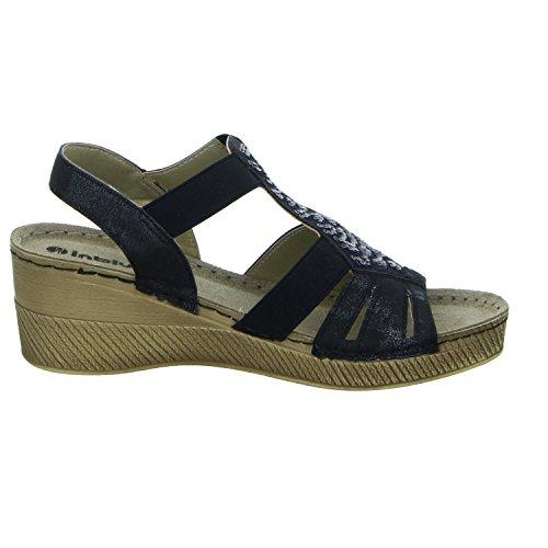 Inblu OSAM0011/014 Damen Sandalette eleganter Boden Schwarz (Schwarz)