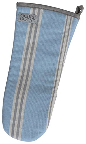 Organic Oven Mitts - Eastnor (Blue Stripe)