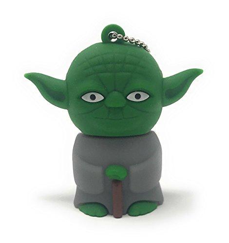 Bayram® Star Wars Yoda USB Stick 8GB Schlüsselanhänger   2.0 High Speed Disney Lustige Geschenke Speicherstick   Memory Stick Flash Drive aus Hart-PVC   3D Figur Gadget