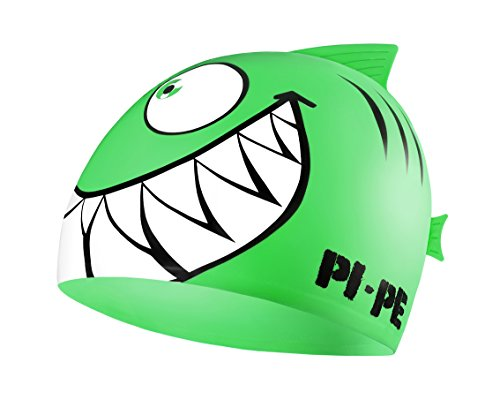 PI-PE Kinder Badekappe Sharky, Grün, One size, PBS-1-B