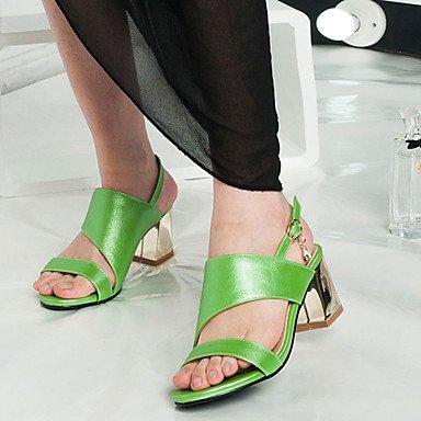LvYuan Da donna-Sandali-Formale Casual Serata e festa-Altro-Quadrato-PU (Poliuretano)-Verde Rosa Dorato Green