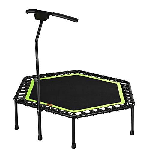 LYCHYYY Trampolin Adult Fitness Hexagon mit anhebbarer Armlehne Ultra-leises Sprungbett