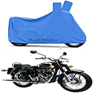 Bull Rider Two Wheeler Cover for Royal Enfield Bullet 350 (Blue)