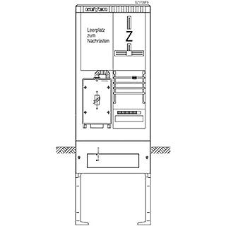 ABN Braun Zähler-Terminal der Säule 1ZP 63A, SH SZ175MF9