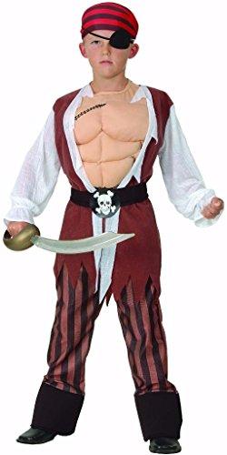 Karneval Halloween Piraten Kostüme Costumes für Kinder Junge - L (Pirate Halloween-kostüme Für Jungen)