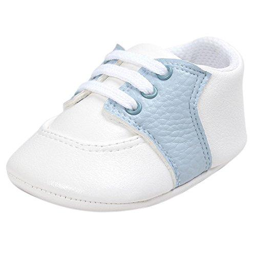 kingko® Baby Soft Sohle Schuhe Kleinkind Turnschuhe Freizeitschuhe Himmelblau