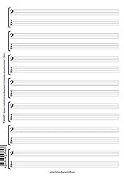 Noten- & Tabulatur-Block für Bassisten - Bass-Notation-TABs-Notizblock