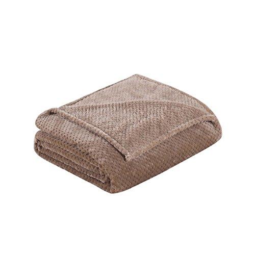 Asdomo Waffelmuster Baumwolle Decke Laken Yoga-Decken Weiche Thermo-Flanellüberwurf Babydecken für Single, Twin, Full, Queen Oder King Size Bett, baumwolle, camel, 150X200CM (Sofa Sofas-clearance Und)