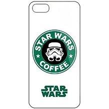 iPhone 5c Star Wars Carcasa de Telefono / Cubierta para Apple iPhone 5C / Protector de Pantalla y Paño / iCHOOSE / Café
