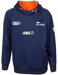 Canterbury NZ Blackcaps de Junior sudadera con capucha–Azul/Naranja–7–8años