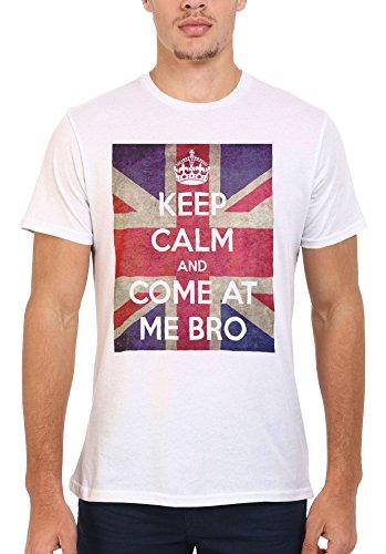 Keep Calm and Come at Me Bro Story Funny Men Women Damen Herren Unisex Top T Shirt .Weiß