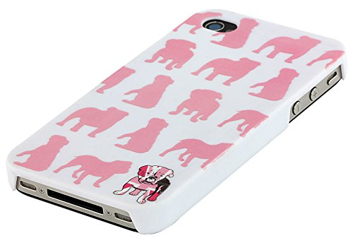 Trendz Hard Shell Schutzhülle Clip-On Case Cover für iPhone 4/4S - London Silhouettes Pink Bulldog