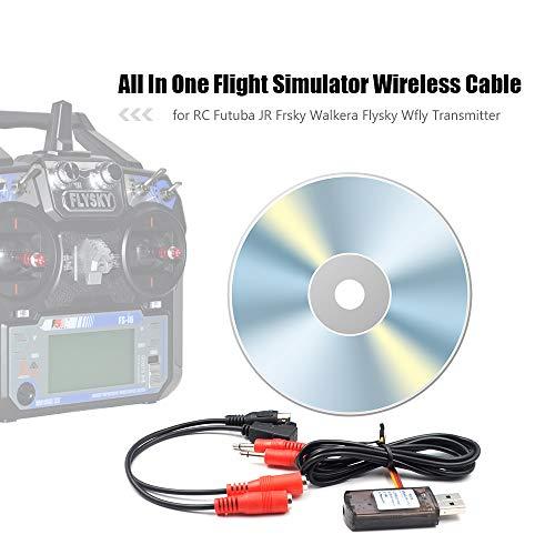 Goolsky Alle in einem RC Flugsimulator Kabelloses Kabel für Futuba JR Frsky Walkera Flysky Wfly RC Transmitter