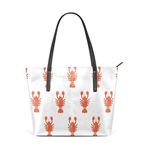 TIZORAX Damen Handtasche mit Karabinerverschluss, PU-Leder, modisch, mit Tragegriff