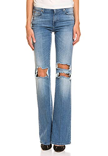 7 For All Mankind Damen Bootcut-Jeans Baumwolle Stretch-Anteil