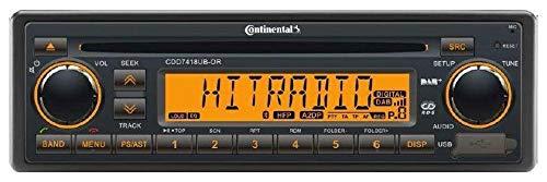 Continental CDD7418UB-OR - CD/MP3-Autoradio mit Bluetooth / DAB / USB / AUX-IN