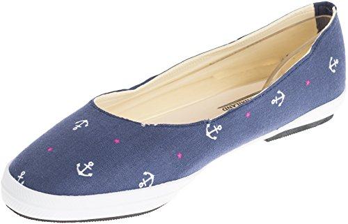 Cute SAILOR Anker Anchor Stars Retro Schuhe BALLERINAS Flats Navy Rockabilly