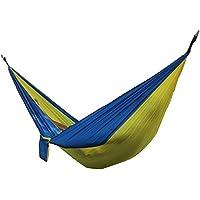 Aiyuda Outdoor Gear portatile amaca in tessuto di nylon ultraleggero Compatto per backpacking campeggio escursionismo sacco a pelo, uomo, Yellow Sapphire Blue, Taglia unica