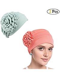 Chenqi Donne Elegante Fiore Morbido Copricapo Musulmano Turbante chemio  Fascia per la Testa del Cancro chemioterapia 8c7b8221363a