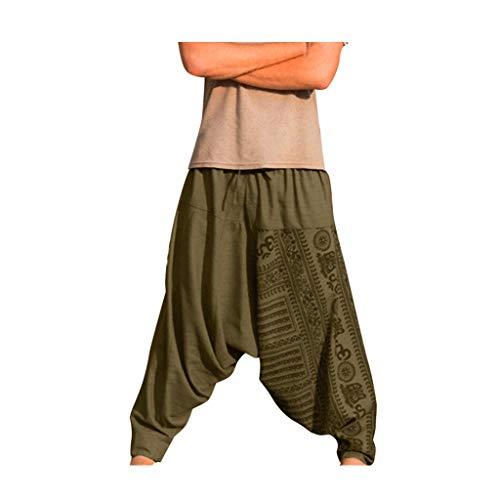 SHINEHUA Haremshose Pumphose Aladinhose Pluderhose Yoga Goa Sarouel Baggy Aladin Freizeithose Soni Herren Damen Elastisch Taille Hippie Mode Hosen Ethnisch Stammes Druck große größen Groß Stamm