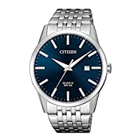 Citizen Men's Blue Dial Stainless Steel Band Watch - BI5000-87L