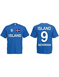 Island EM 2016 Trikot Sigthorsson Fanshirt T-Shirt