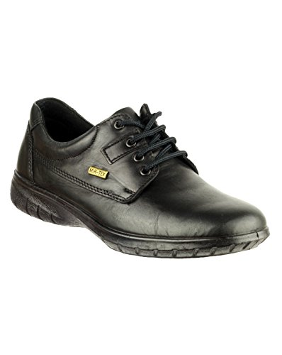 Cotswold Ladies Ruscombe Black Waterproof Leather Lace Up Shoe 6