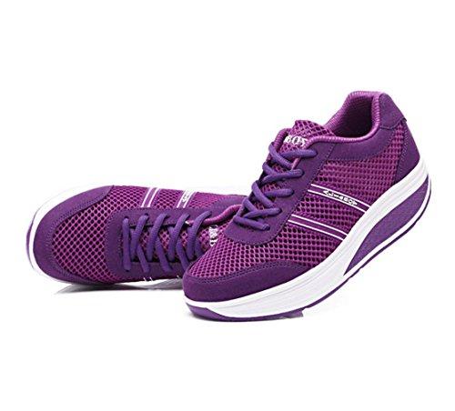 WZG Sommer neu schüttelte seine Schuhe breathable beiläufige Sportschuhe Plateauschuhe Hang mit einem einzigen Schuh Blue