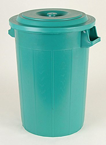 Universaltonne 70 Liter mit Deckel und Tragegriffen in grün thumbnail