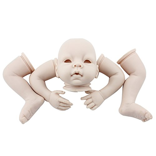 Willdo Unpainted Reborn Baby Doll, 100% Handmade Soft Silicone 22