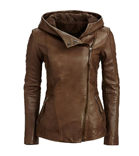 giacca lunga in pelle donna