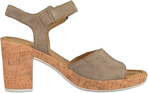 Gabor Gabor Damen Sandalette, Sandales Femme Grau Marron Gris