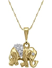 Vivre 18k Gold Plated Alloy Elephant Pendant For Women's Without Chain