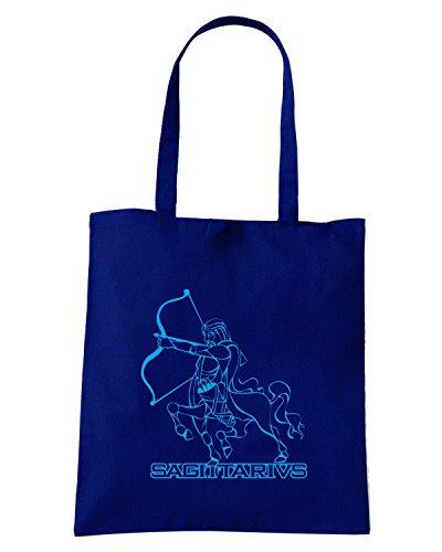 T-Shirtshock - Borsa Shopping T0244 sagittario religioni celtic Blu Navy