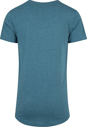 Urban Classics Herren T-Shirt Shaped Melange Long Tee Türkis (Teal 1143)