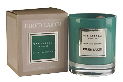 Fired Earth Duftkerze Grüner Tee Bergamotte -