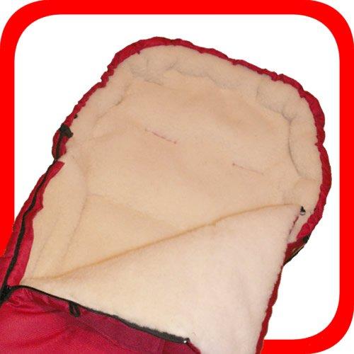 Baby Universal Fußsack, 100% Lammwolle, rot -