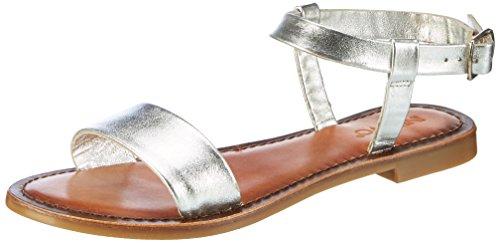 Inuovo Damen 7313 Riemchensandalen Silber (Silver)