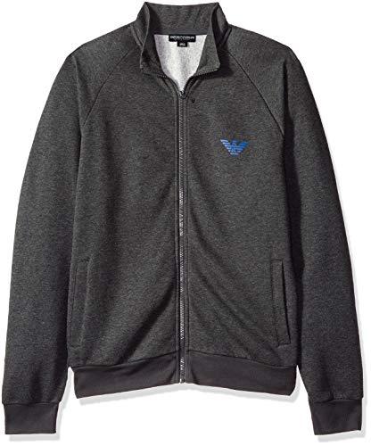 Emporio Armani Sweater Jacke mit Reißverschluss 111570 8A571 57720 Grigio Melange Nero SH18-EAS1 Größe M