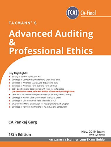 Advanced Auditing & Professional Ethics (CA-Final) (for Nov 2019 Exam-Old Syllabus)(13th Edition June 2019)